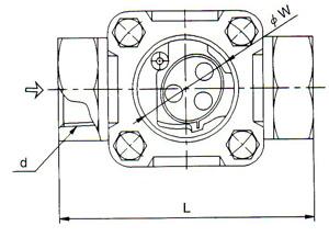 SB-1S流量显示器尺寸图