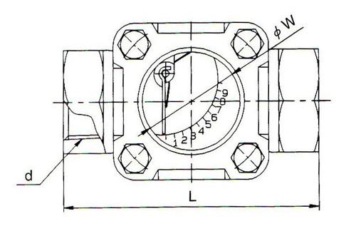 SF-1S观视镜尺寸图